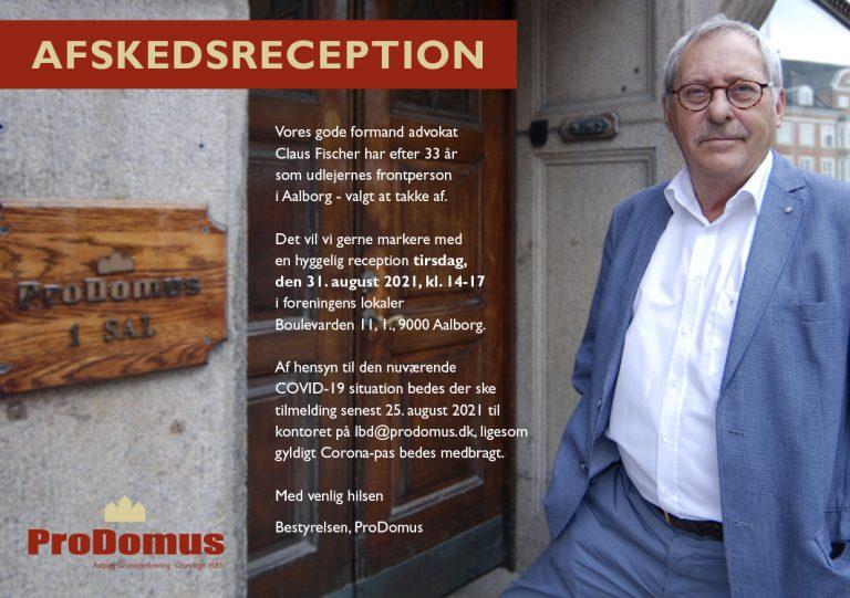 Invitation til Claus Fischers afskedsreception
